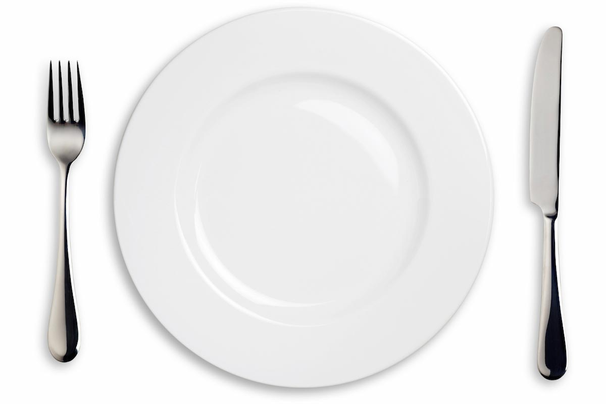 Fork And Knife Empty Plate Diet 1025 The River